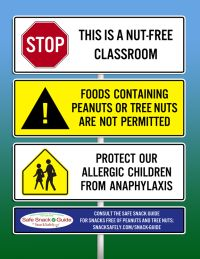 nut free poster